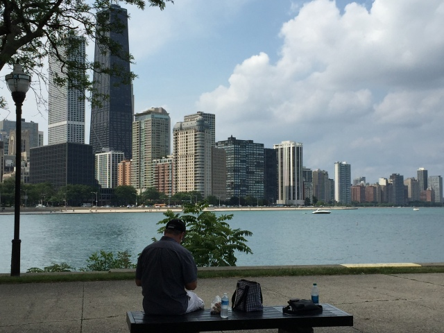 Picnic lunch on the Ohio Street Pier