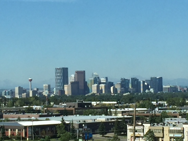 View of downtown Calgary from our suite