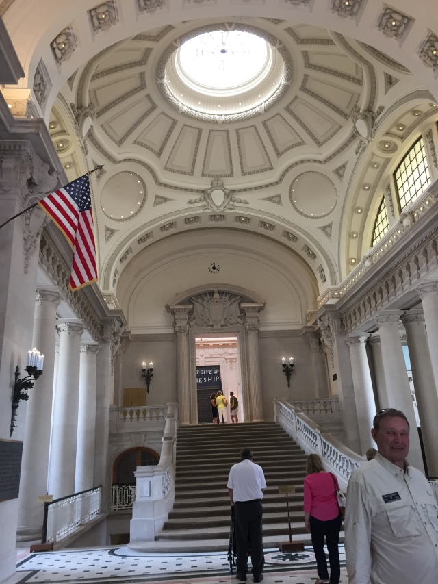 Rotunda in Bancroft Hall and steps up to Memorial Hall