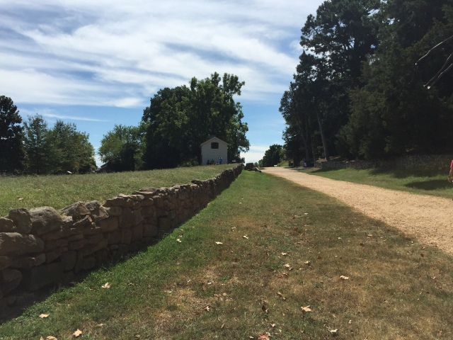 Sunken Road and The Stone Wall.  The battlefield is the left of the wall.