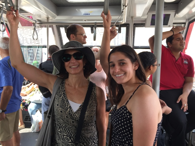 Em and I on the Tram