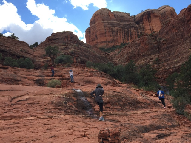 On the trail to Cathedral Rock