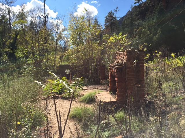 The remains of Mayhew's lodge, once visited by the likes of Herbert Hoover, Walt Disney, Clark Gable, and Jimmy Stewart