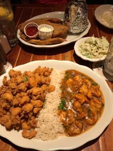 Fried Crawfish, Catfish, Shrimp